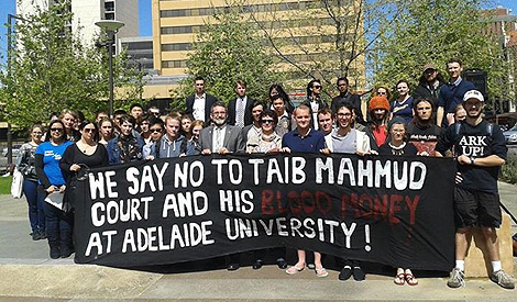 Taib Adelaide protest